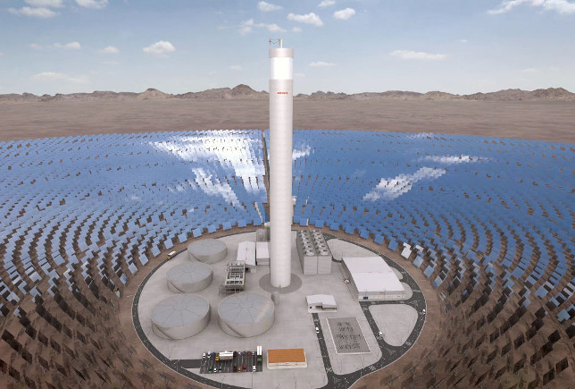 Recreaci�n virtual en 3D de la planta termosolar Atacama 1